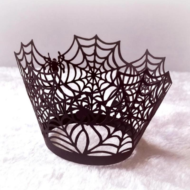 Halloween Decoration Cupcake Wrappers Party Accessories, 50 PCs