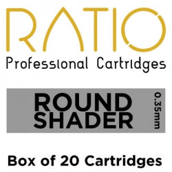 Load image into Gallery viewer, Box of 20 Ratio Round Shader Cartridge Needles 0.35