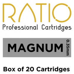 Load image into Gallery viewer, Box of 20 Ratio Flat Magnum Cartridge Needles 0.35