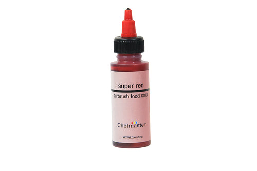Chefmaster Airbrush Food Colour (Super Red), 57g - Bakersville Shop