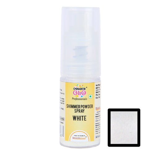 ColourGlo Edible Shimmer Powder Spray ( White ), 5g - Bakersville Shop