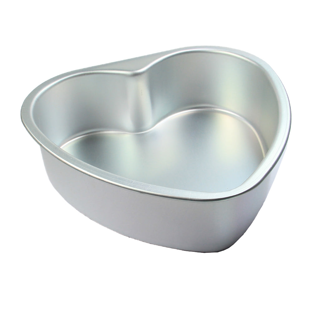 FineDecor Premium Aluminium Cake Pan/Mould, Heart Shape (6 inch diameter * 2 inch height), FD 3022
