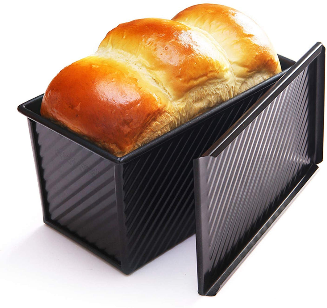 FineDecor Premium Nonstick Bread Mould / Loaf Pan / Bread Pan / Toast Mould / Bread Tin With Cover Bakeware (Black) - Bakersville Shop