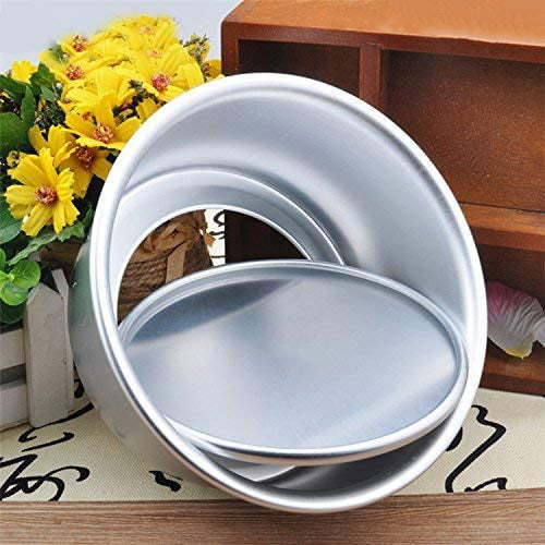 FineDecor Premium Aluminium Cake Pan/Mould Removable Bottom, Round Shape (8 inch diameter * 3 inch height), FD 3025 - Bakersville Shop