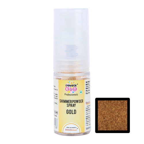 ColourGlo Edible Shimmer Powder Spray (Gold), 5g - Bakersville Shop