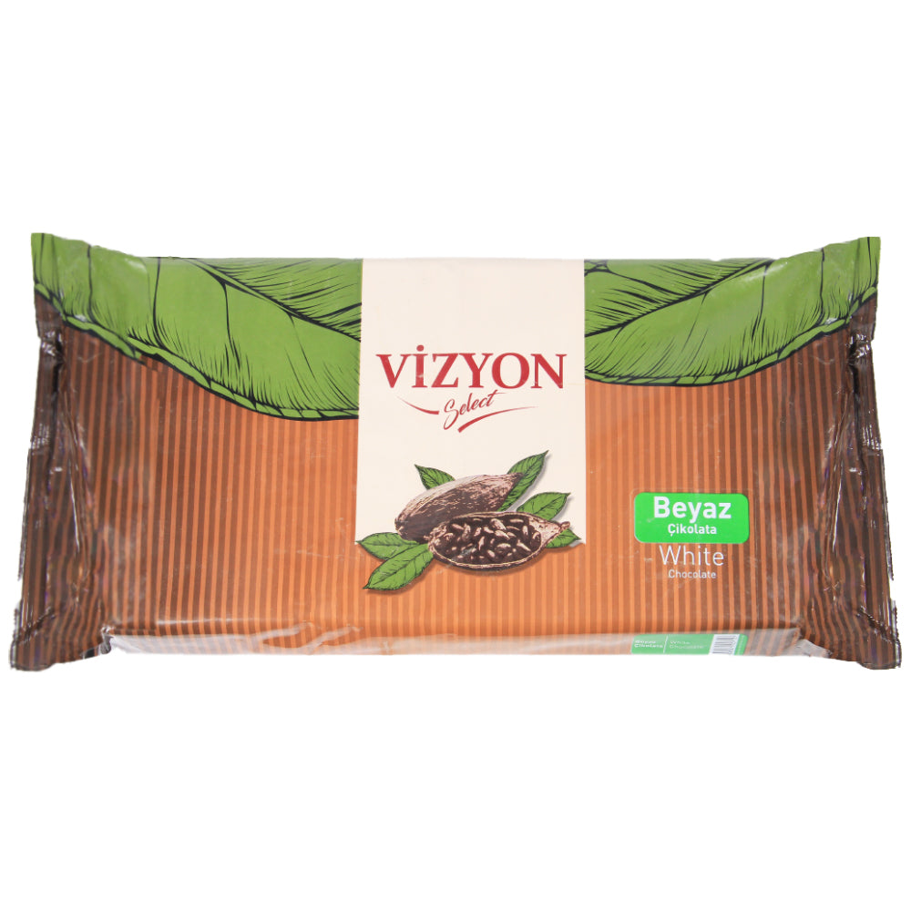 Vizyon White Couverture Chocolate Block, 2.5 KG - Bakersville Shop