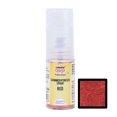 ColourGlo Edible Shimmer Powder Spray (Red), 5g - Bakersville Shop