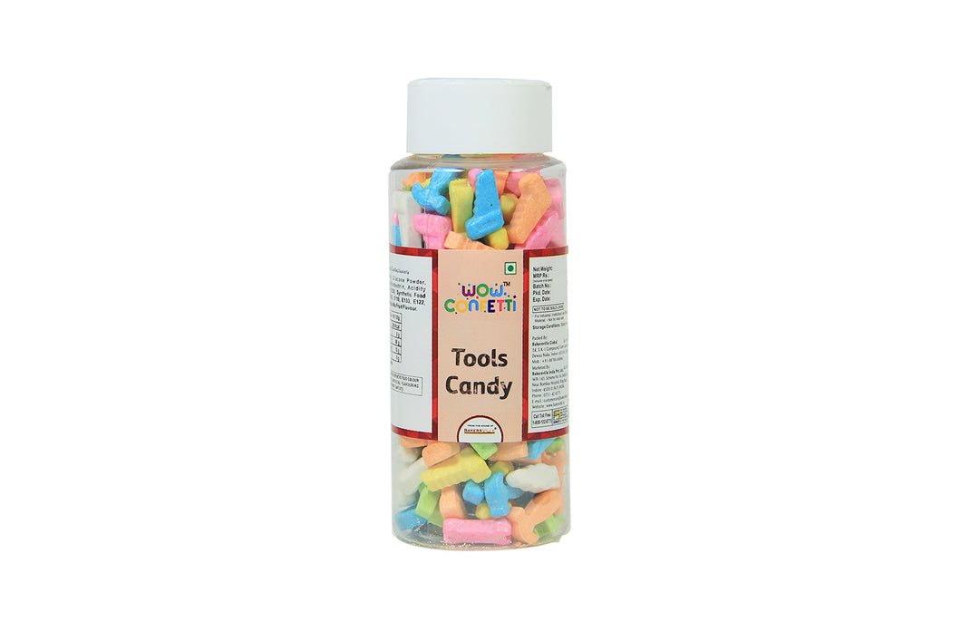 Wow Confetti Tools Candy, 125 Gm - Bakersville Shop