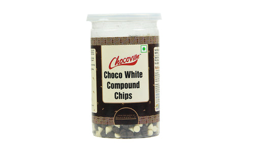CHOCOVILLE - COMPOUND CHIPS - CHOCO WHITE , 200 Gm - Bakersville Shop