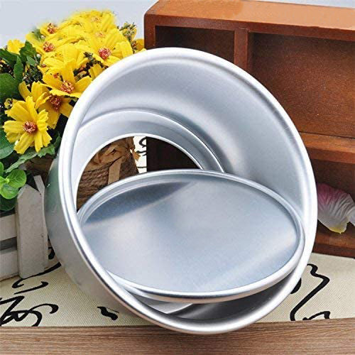FineDecor Premium Aluminium Cake Pan/Mould Removable Bottom, Round Shape (6 inch diameter * 3 inch height), FD 3024 - Bakersville Shop
