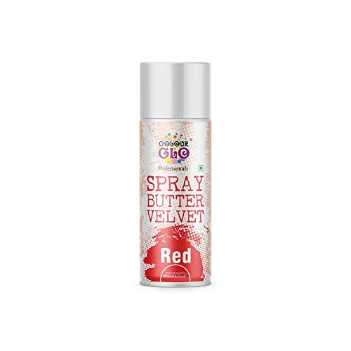 Colour glo Butter Velvet Spray (red, 400ml), 400 g - Bakersville Shop