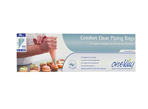 One Way Comfort Clear Piping Bags, 68 X 28 cm (74 Pcs)