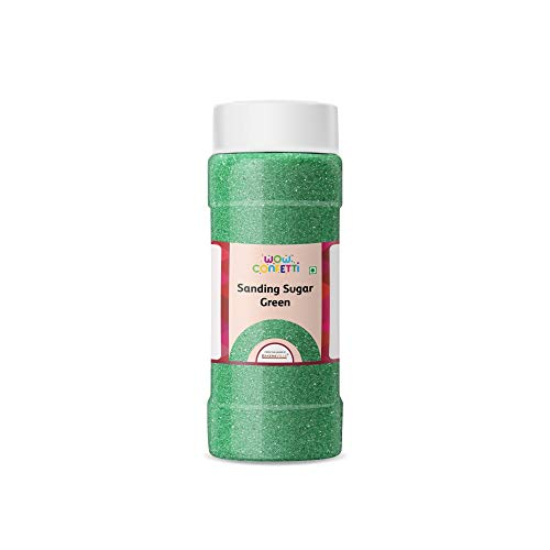 Wow Confetti Sanding Sugar (Green), 150g