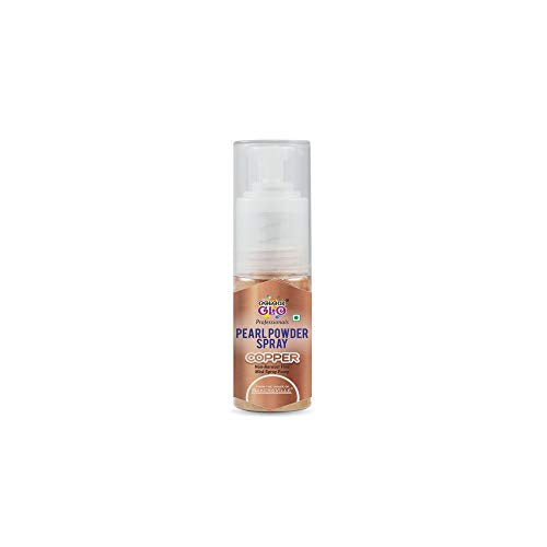 Colour glo Powder Pearl Spray (Copper), 7 Gm, 7 g - Bakersville Shop