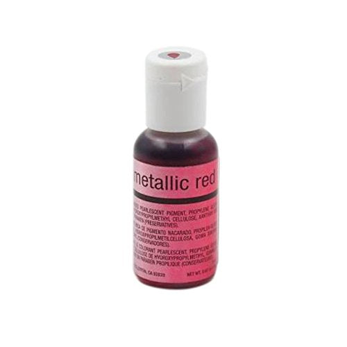 Chefmaster Airbrush, Metallic Red, 19 ml - Bakersville Shop