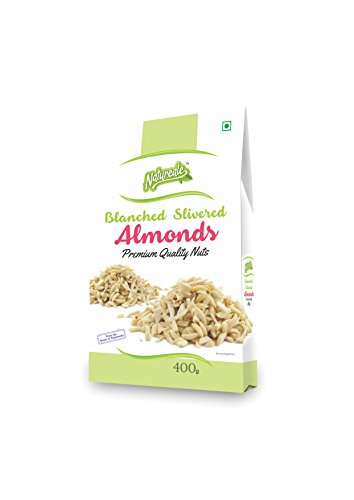 Natureale Blanched Slivered Almond, 400gm - Bakersville Shop
