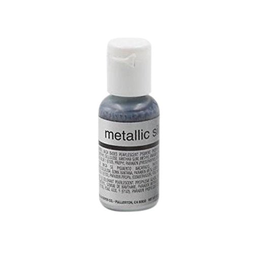 Chefmaster Airbrush, Metallic Silver, 19 ml - Bakersville Shop
