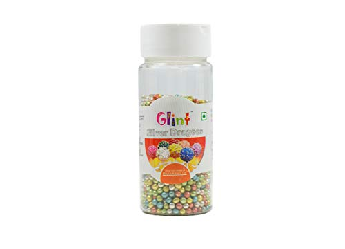Glint Assorted Dragee, '0' Number (3.5 MM), 75 Gm - Bakersville Shop