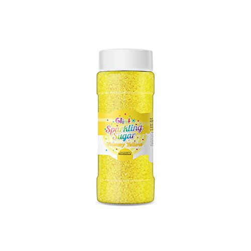 Glint Sparkling Sugar (Yummy Yellow) (Small), 75g - Bakersville Shop