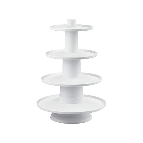 "Wilton 4-Tier Stacked Cupcake and Dessert Tower, (16.22""X12"")"