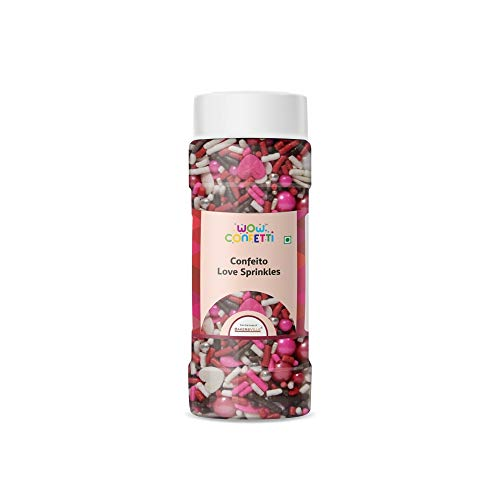 Wow Confetti Confeito Love Sprinkles Mix, 125g - Bakersville Shop