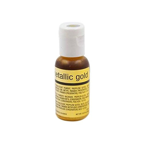 Chefmaster Airbrush Metallic Gold, 19 ml - Bakersville Shop