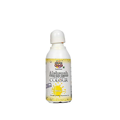 Colourglo Professionals Yellow Airbrush Chock Pearl Colour, 25 Gm - Bakersville Shop