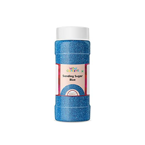 Wow Confetti Sanding Sugar (Blue), 150g