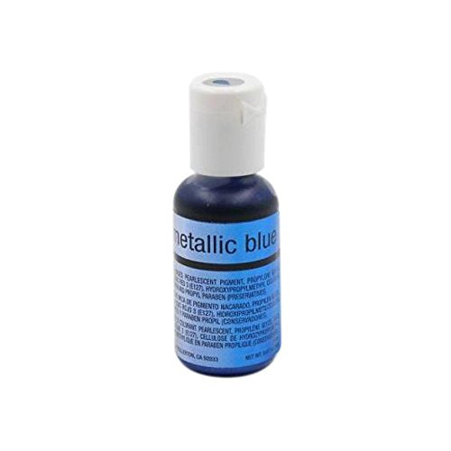 Chefmaster Airbrush, Metallic Blue, 19 ml - Bakersville Shop