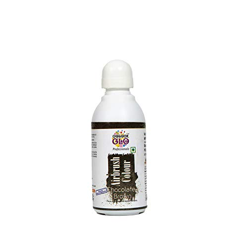 Colourglo Professionals Chocolate Brown Airbrush Colour , 25 Gm - Bakersville Shop