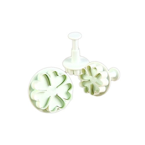 FINE DECOR Heart Shape Plunger Cutter Tools FD 2419 (White) - Bakersville Shop