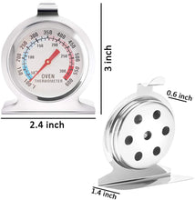 Load image into Gallery viewer, FineDecor Stainless Steel Instant Read Oven / Grill / Smoker Monitoring Thermometer (FD 3125)