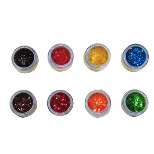 GLINT - EDIBLE SPARKLE - ASSORTED - (5 GM X 8 BOTTLES X 1 TRAY) - Bakersville Shop