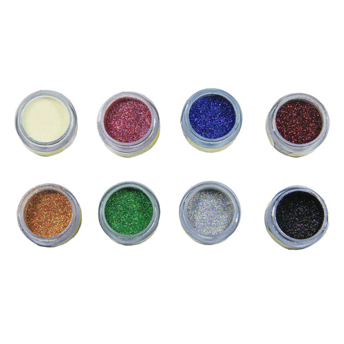 GLINT - TWINKLE DUST - ASSORTED - (5 GM X 8 BOTTLES X 1 TRAY) - Bakersville Shop