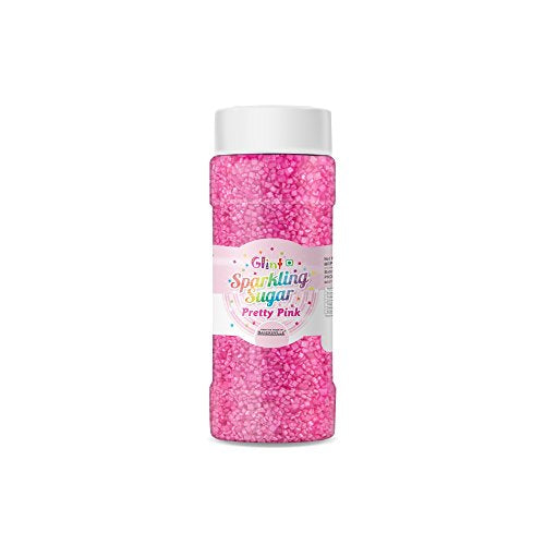 Glint Sparkling Sugar (Pretty Pink) (Big), 75g - Bakersville Shop