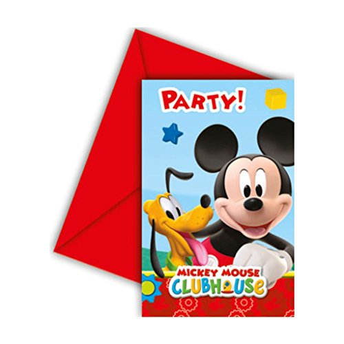 Mickey Mouse Club House Invitations & Envelope - BV81513 - 6Pcs - Bakersville Shop