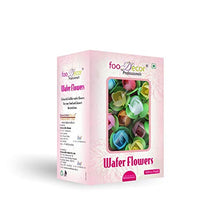 Load image into Gallery viewer, Foodecor Professionals Wafer Flowers (Rose with Round Leaf)- 50pcs -BV 2729