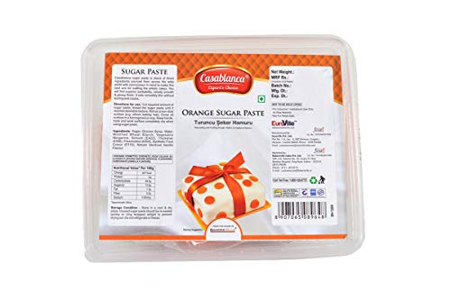 Casablanca Sugar Paste Orange , 400 Gm - Bakersville Shop