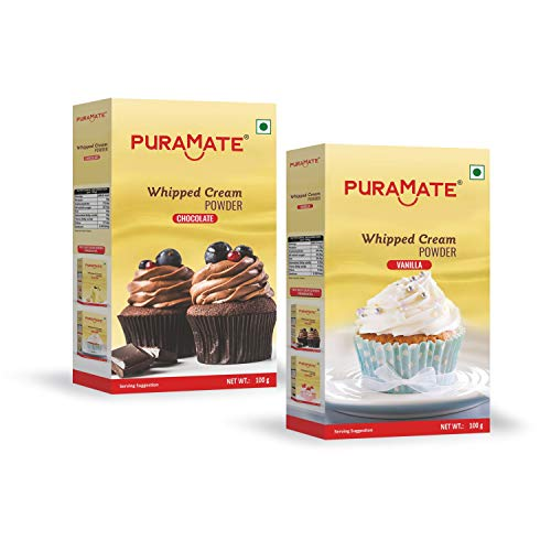 Puramate Whipping Cream Powder Combo (Vanilla 100g & Chocolate 100g)