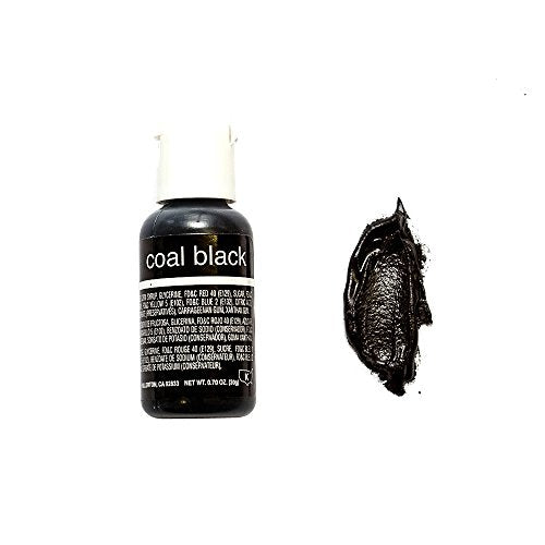 Chefmaster Liqua- Gel, Coal Black, 20 ml - Bakersville Shop