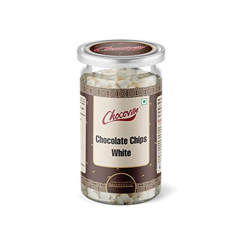 Chocoville Chocolate Chips White, 200g, 200 g - Bakersville Shop