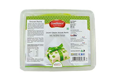 Casablanca Sugar Paste Light Green , 400 Gm - Bakersville Shop