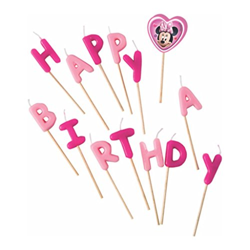 Minnie Mouse Happy Birthday Toothpick Candles -BV80531 - 14Pcs - Bakersville Shop