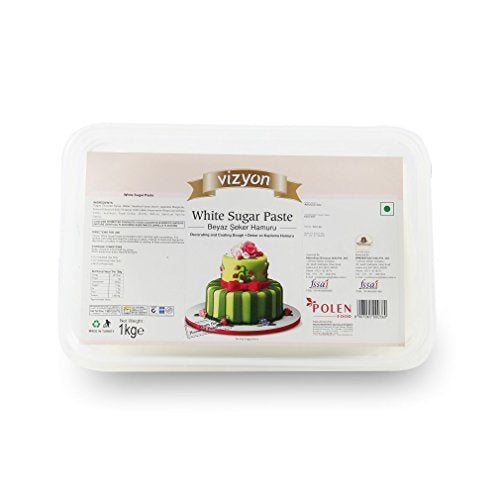 Vizyon Sugar Paste (1 kg, White) - Bakersville Shop