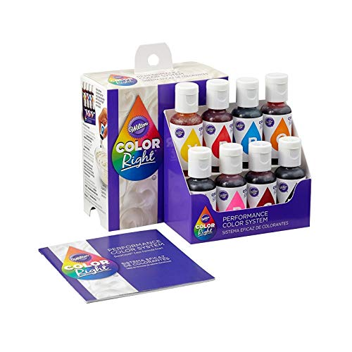 Wilton Color Right Performance Color System, Assorted (19 ml X 8 Bottles X 1 Set) - Bakersville Shop