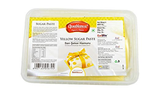 Casablanca Sugar Paste Yellow , 1 Kg - Bakersville Shop