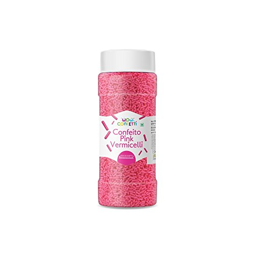 Wow Confetti Confeito Vermicelli Sprinkles (Pink, 125 g)