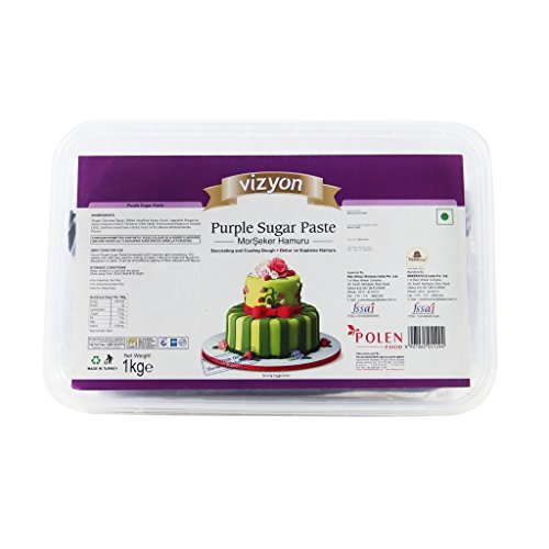 Vizyon Vizyon Sugar Paste (fondent) - Purple 1 kg, 1000 g - Bakersville Shop