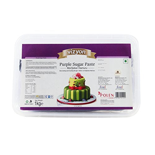 Vizyon Vizyon Sugar Paste (fondent) - Purple 1 kg, 1000 g