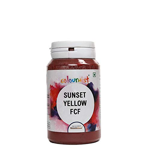 Colourmist Sunset Yellow Fcf Basic Food Colour, 75 Gm - Bakersville Shop